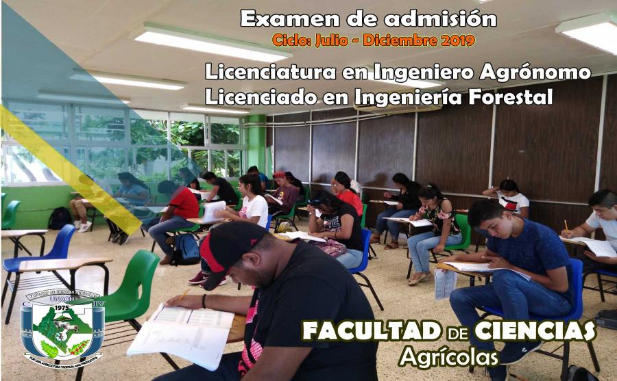 Examen de admisión Ciclo: Julio - Diciembre 2019